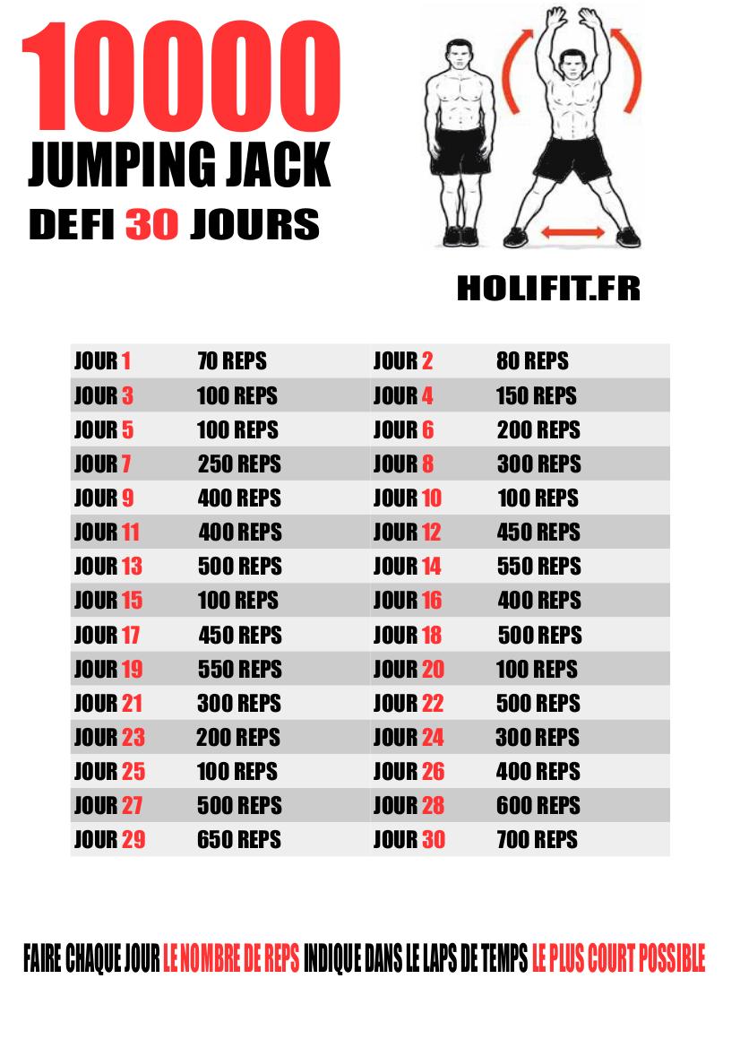 Défi 30 jours : 10 000 Jumping Jack - HOLIFIT